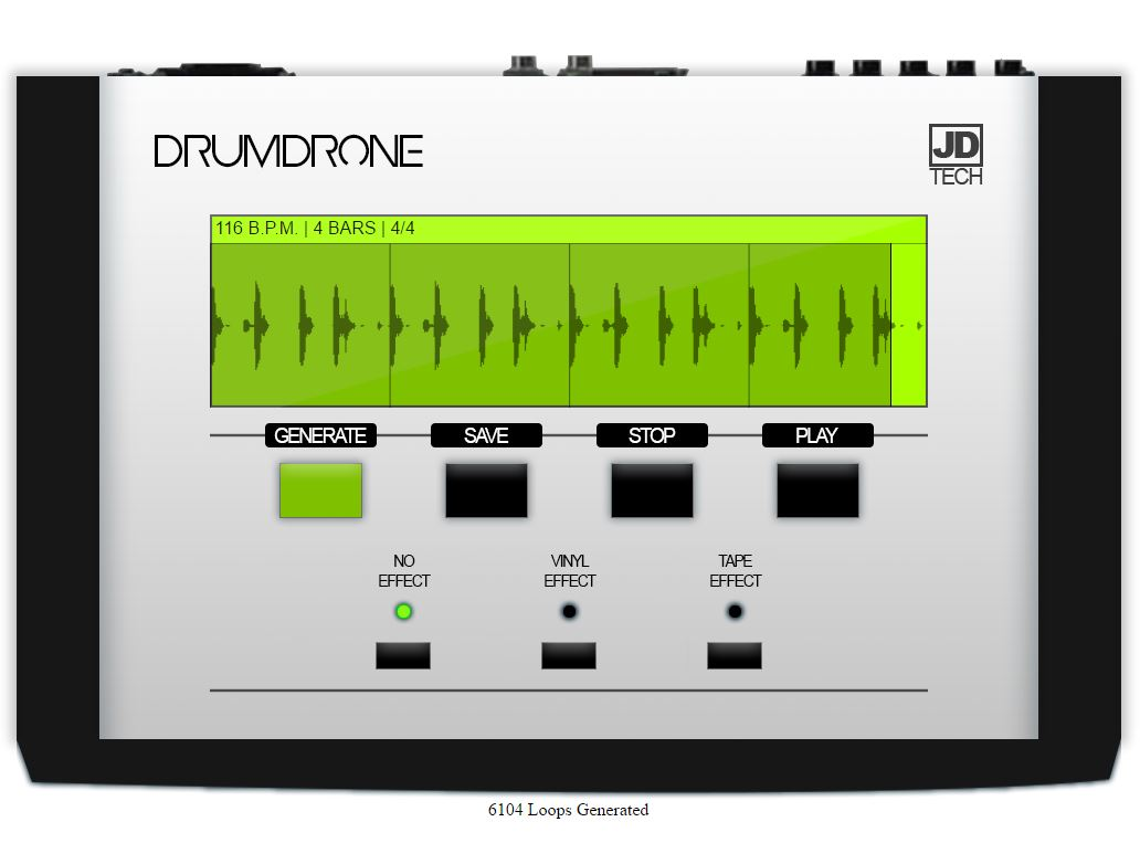free drumdrone random beat generator laptopguitarist com. Black Bedroom Furniture Sets. Home Design Ideas